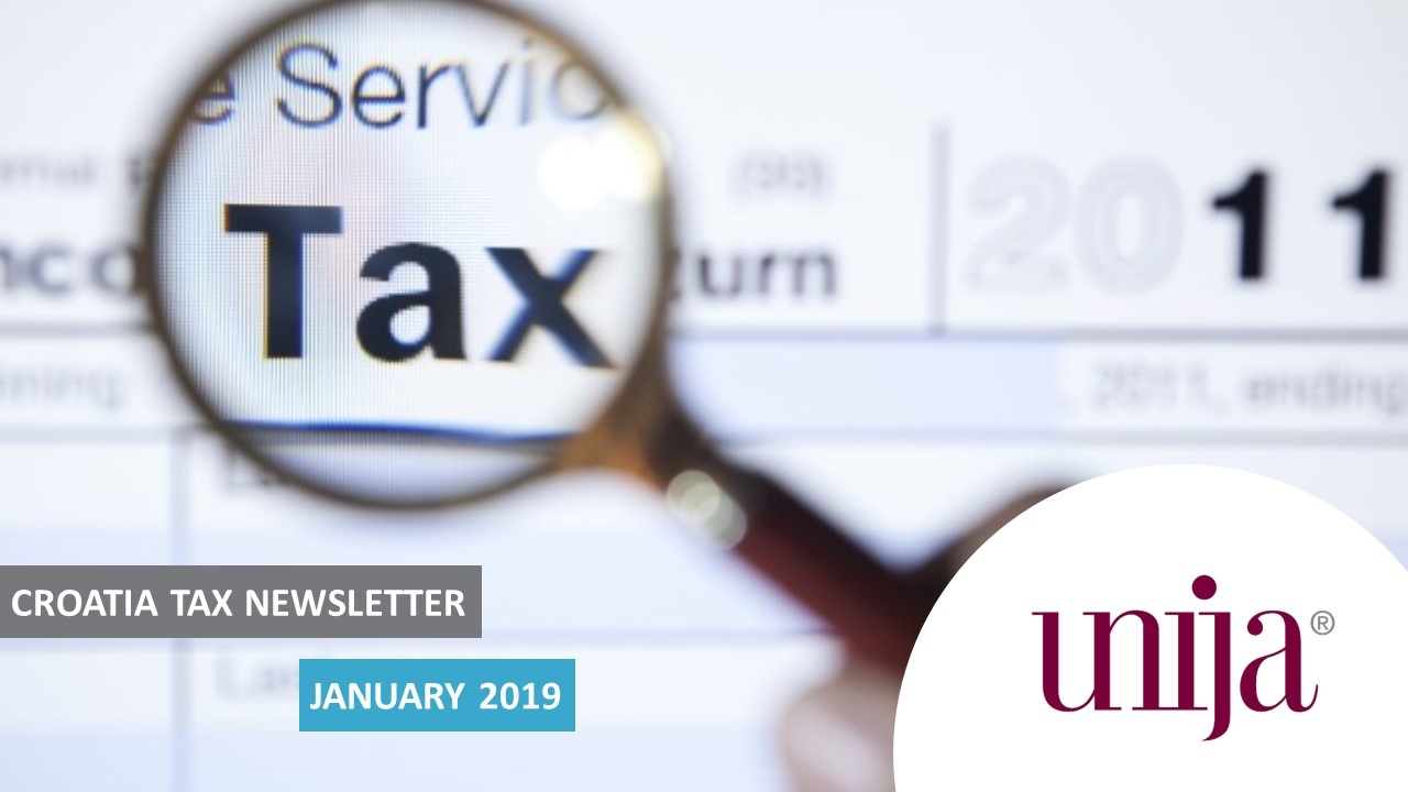 CROATIA: Country tax newsletter - January 2019 - UNIJA
